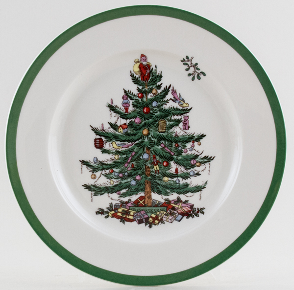 Spode Christmas Tree colour Side or Cheese Plate