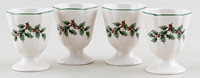 Spode Christmas Tree colour Egg Cups Set of Four