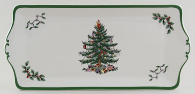 Spode Christmas Tree colour Sandwich Tray