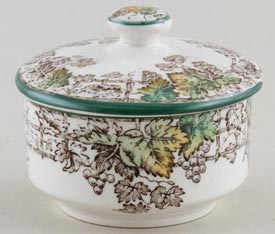 Spode Byron brown with colour Mustard Pot c1950s
