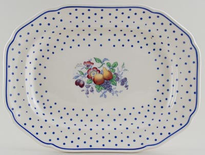 Spode Polka Dot colour Meat Dish or Platter c1946