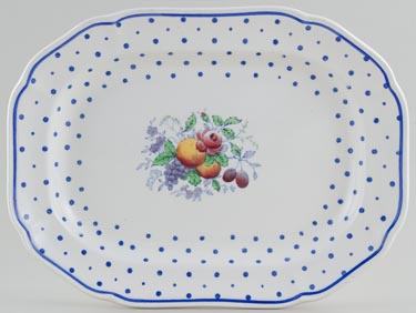 Spode Polka Dot colour Meat Dish or Platter c1940