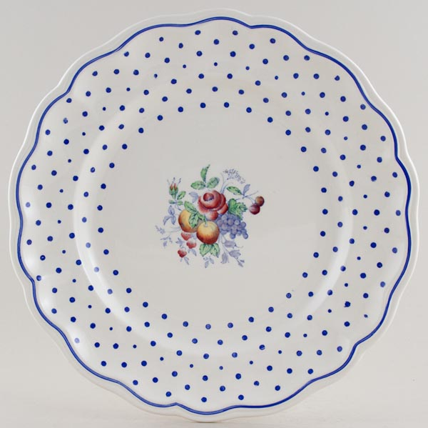 Spode Polka Dot colour Plate c1930s & 1940s