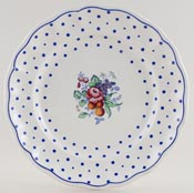 Spode Polka Dot colour Plate c1950s
