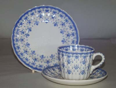 Spode Fleur de Lys Teacup and Saucer with Plate