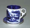 Miniature Coffee Can and Saucer c1875