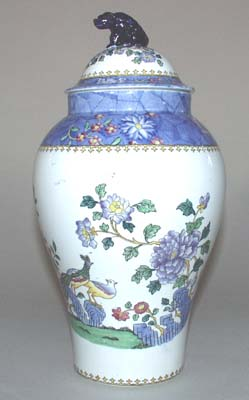 Spode Chinese Figures colour Vase with Cover c1914