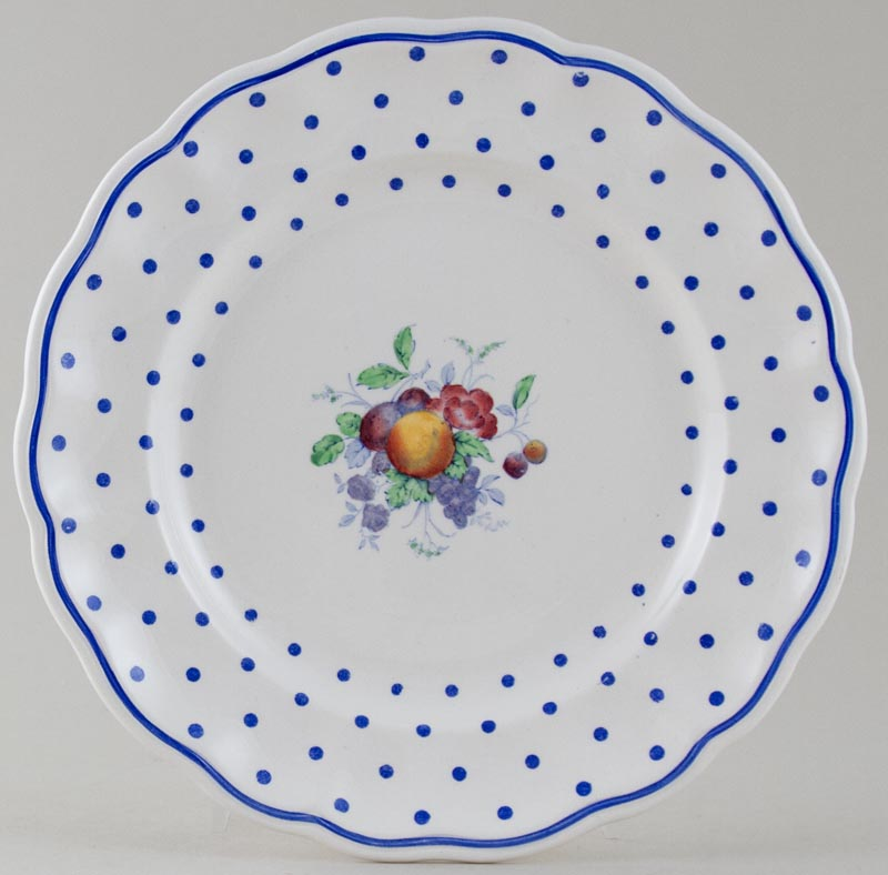 Spode Polka Dot colour Plate c1940s and 1950s
