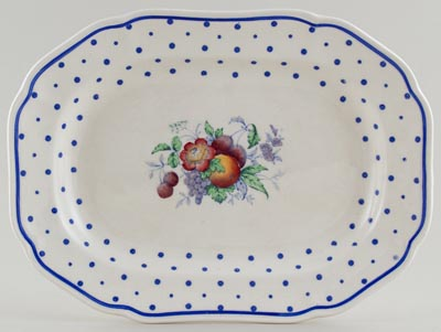 Spode Polka Dot colour Meat Dish or Platter c1935