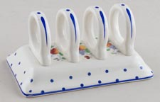 Spode Polka Dot colour Toast Rack c1950