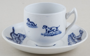 Spode Animals Toy Teacup and Saucer c1890