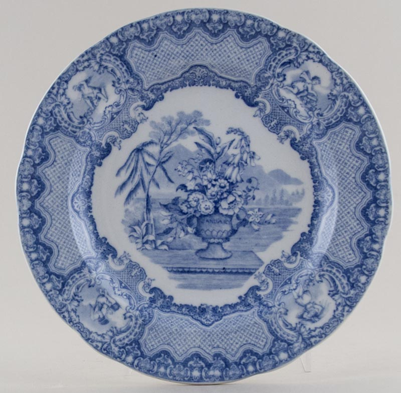 Spode Seasons Plate January c1920