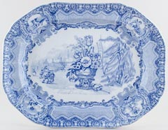 Meat Dish or Platter Winter c1920