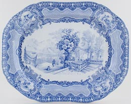Meat Dish or Platter Autumn c1922