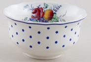 Spode Polka Dot colour Sugar Bowl c1950s