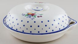 Spode Polka Dot colour Warming Dish c1950s