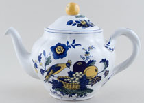 Spode Blue Bird colour Teapot c1980s