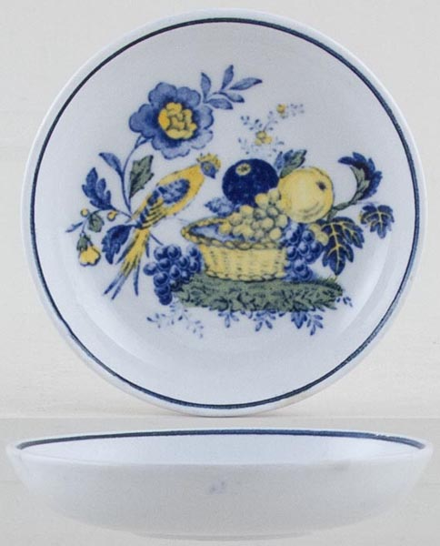 Spode Blue Bird colour Butter Pat c1950s