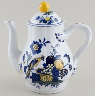 Spode Blue Bird colour Coffee Pot c1980s