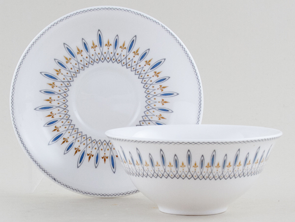Spode Brussels Bowl and Saucer c1960s