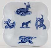 Spode Animals Toy Bread and Butter Plate c1890