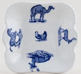 Spode Animals Toy Bread & Butter Plate c1890