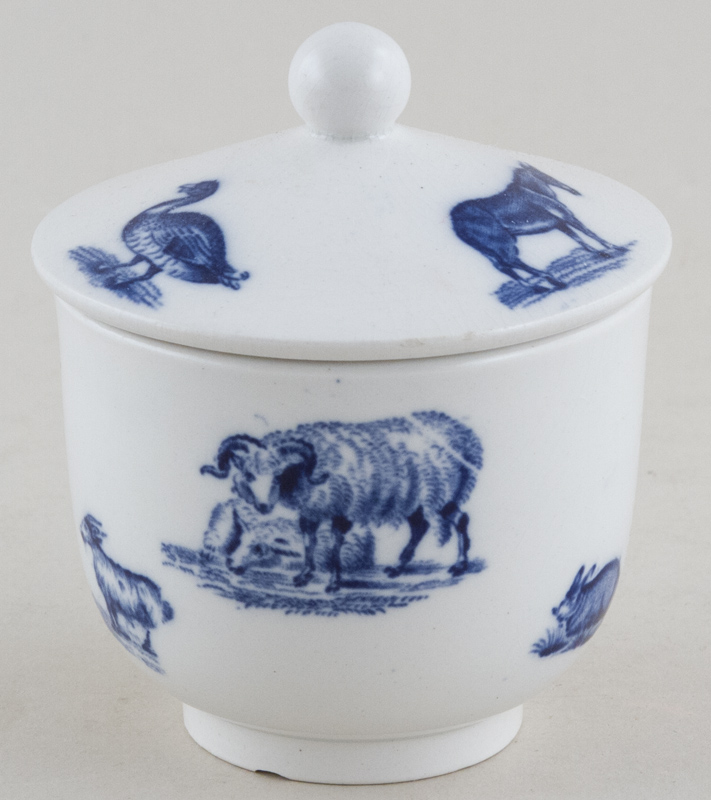 Spode Animals Toy Sugar with Cover c1890
