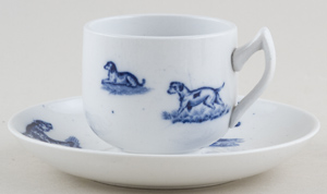 Spode Animals Toy Cup & Saucer c1890