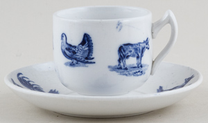Spode Animals Toy Cup and Saucer c1890