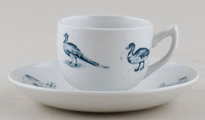 Spode Animals green Toy Cup and Saucer c1905