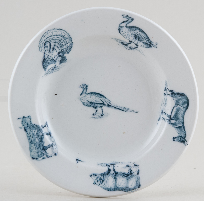 Spode Animals green Toy Plate c1905