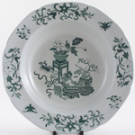 Spode Bowpot green Dessert or Soup Bowl c1950s