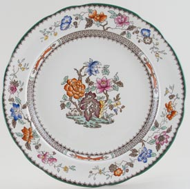 Spode Chinese Rose colour Plate c1930s, 1940s and 1960s