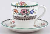 Spode Chinese Rose colour Coffee Cup and Saucer c1930s