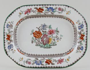 Spode Chinese Rose colour Sauce Tureen Stand c1930s