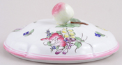 Spode Marlborough Sprays colour Vegetable Dish Cover c1970