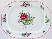 Spode Marlborough Sprays colour Meat Dish or Platter c1941