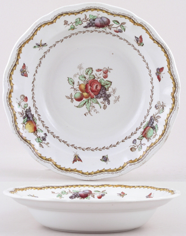 Spode Rockingham colour Dessert or Soup Bowl c1925