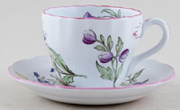 Spode Luneville colour Teacup and Saucer c1950s
