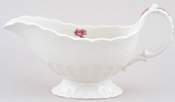 Spode Billingsley Rose colour Sauce Boat c1970s