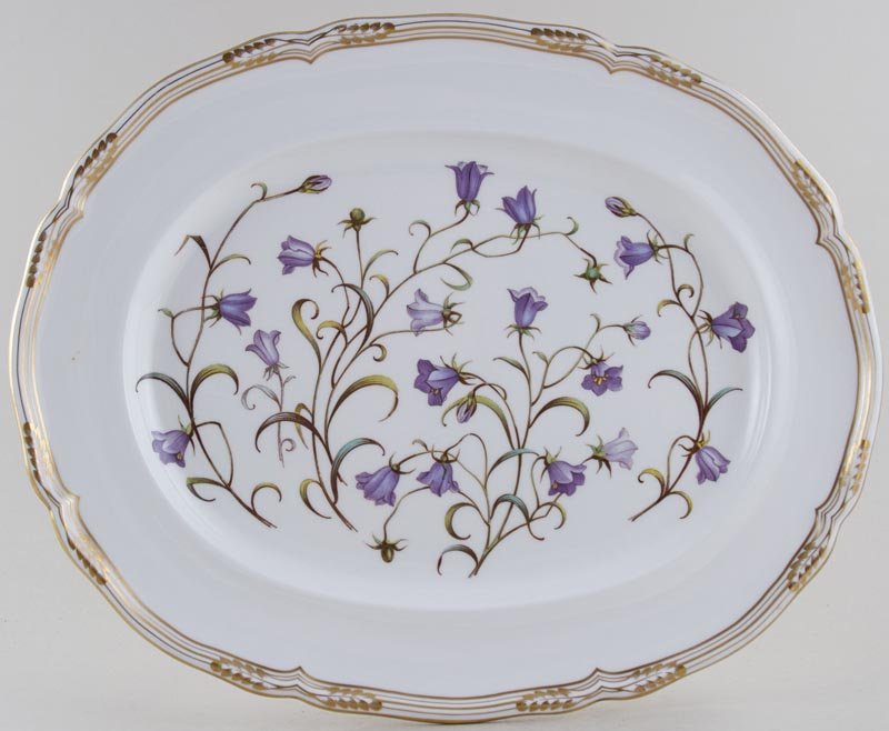 Spode Campanula colour Meat Dish or Platter c1985