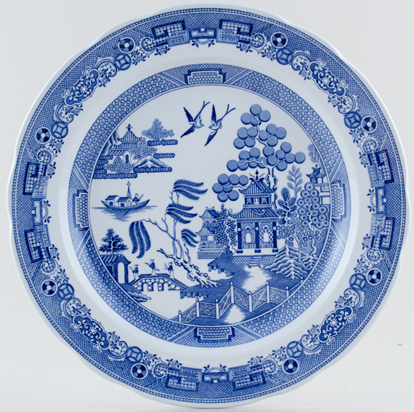 Spode Blue Room Plate Willow c1990s