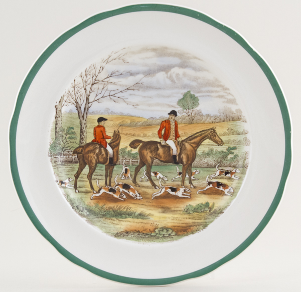 Spode The Hunt colour Plate c1951
