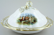 Spode The Hunt colour Covered Dish c1960s