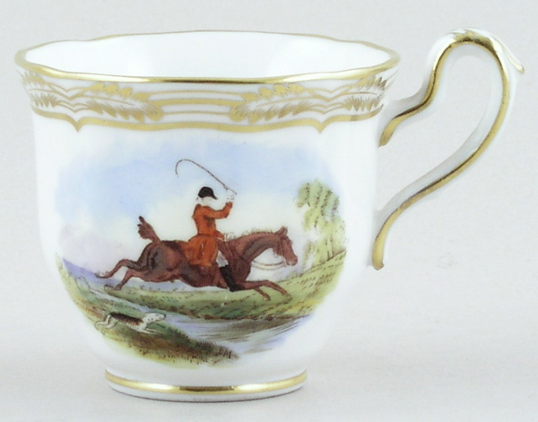 Spode The Hunt colour Coffee Cup c1960s