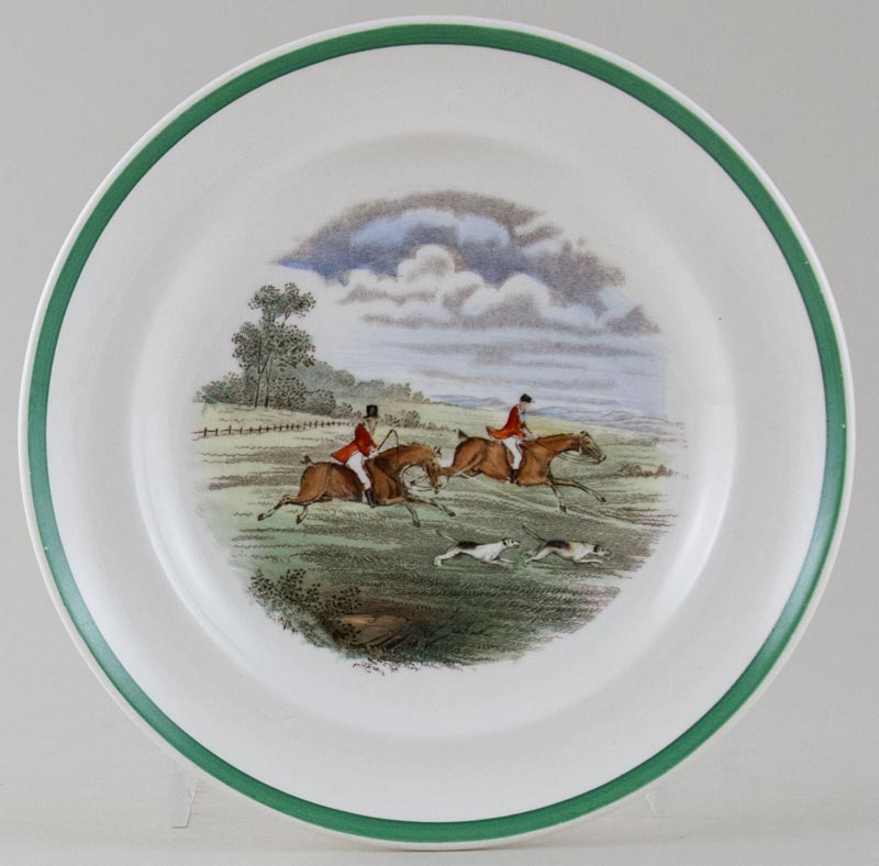 Spode The Hunt colour Plate c1930s