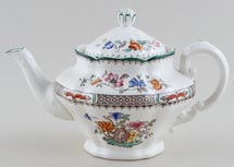 Spode Chinese Rose colour Teapot small c1930s
