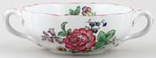 Spode Marlborough colour Soup Cup c1930s