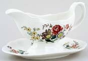 Spode Gainsborough colour Sauce Boat with Fixed Stand c1950s