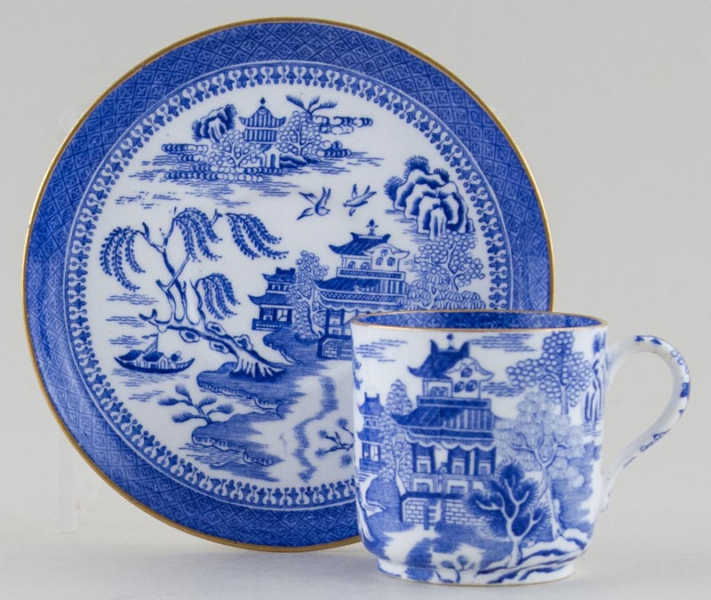 Spode Mandarin Coffee Cup and Saucer c1880s